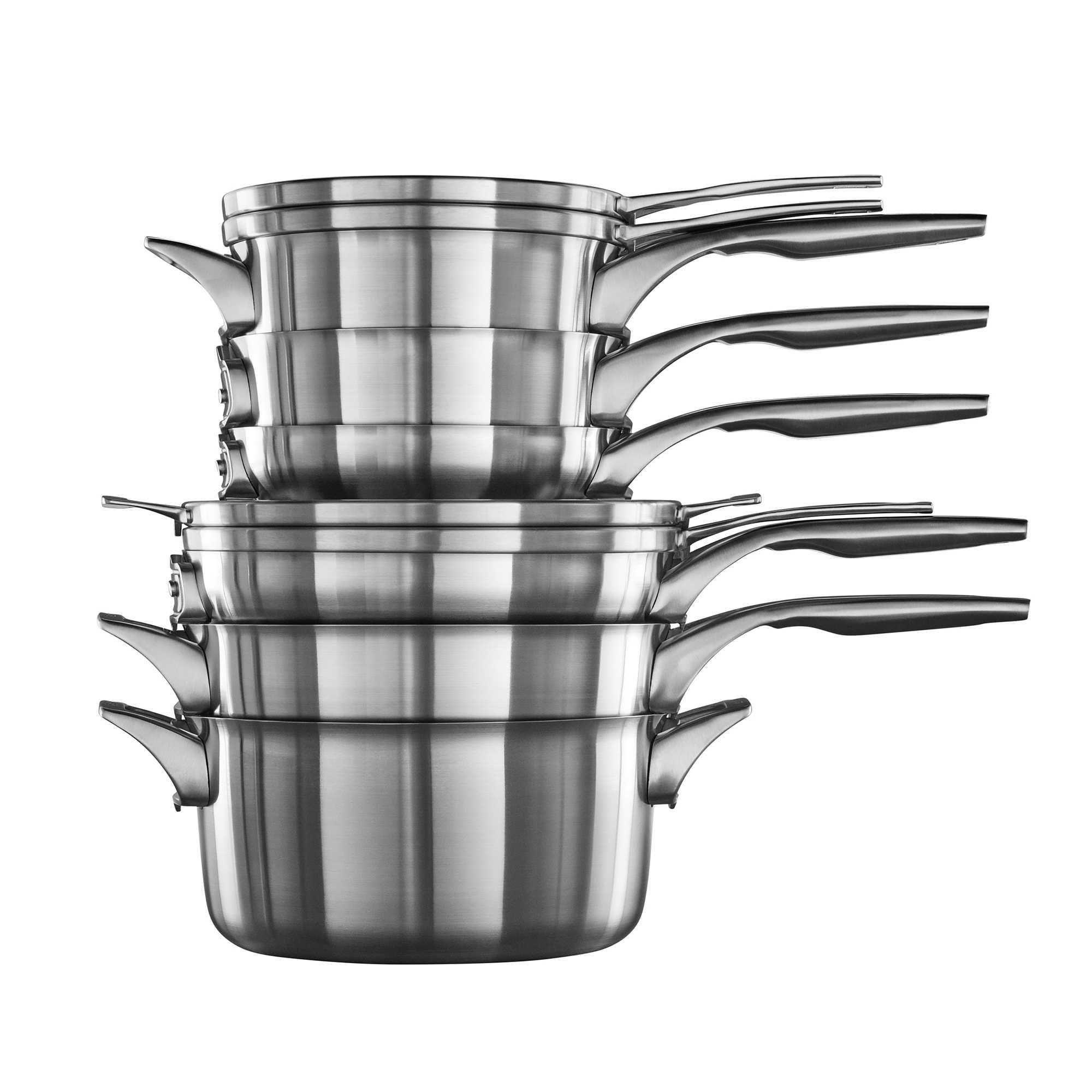 Calphalon® Premier™ Space Saving Stainless Steel 10 Piece 400 x 300