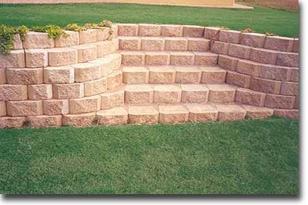 retaining wall stairs with blocks as steps  retaining wall stairs with blocks as steps