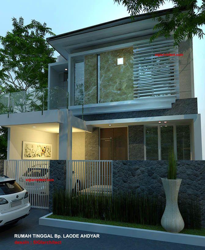 Denah rumah minimalis model lantai home modern