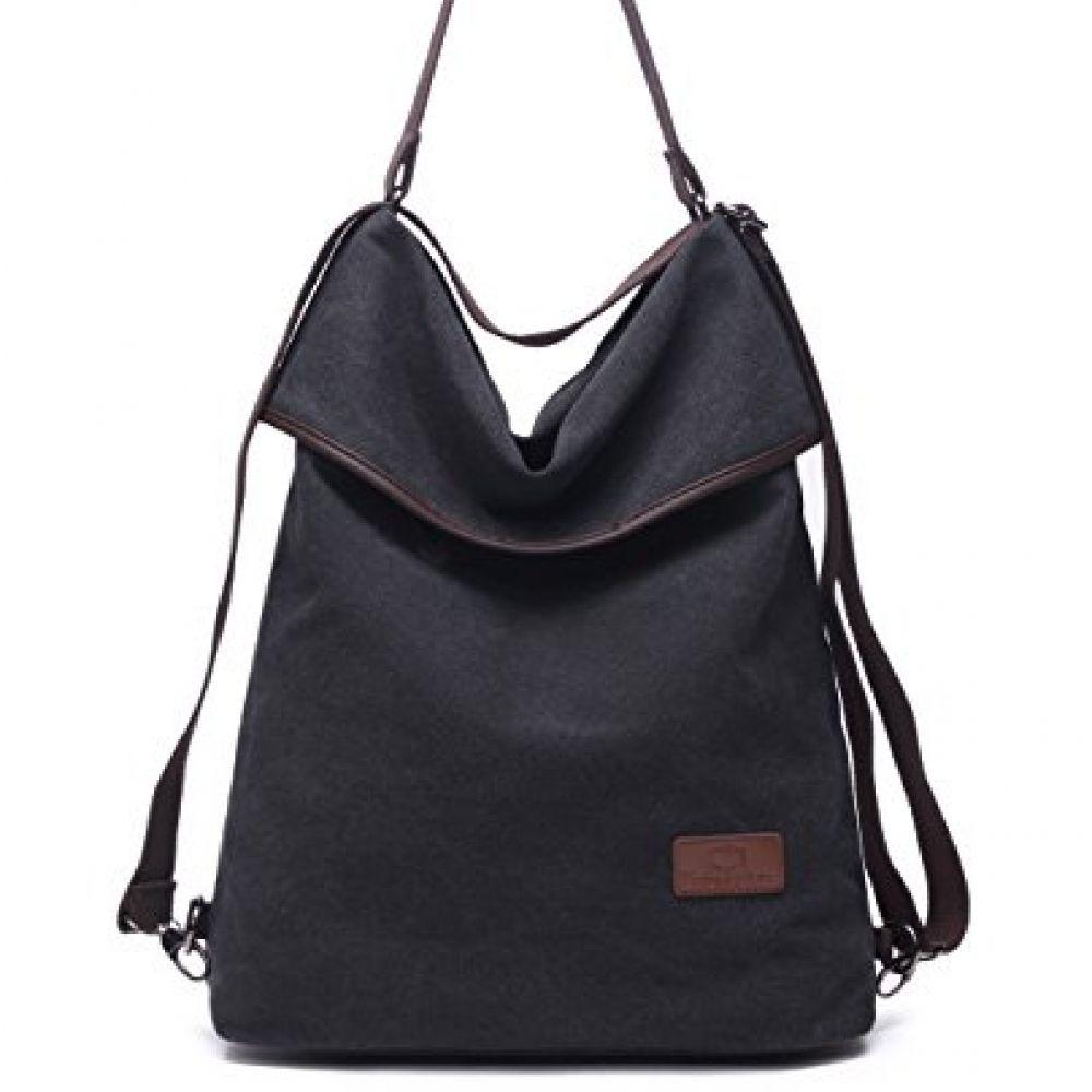 cad9aa1a5 Travistar Women Multifunction Shoulder Bag- Canvas Rucksack Backpack  Crossbody Casual Daypack Quompra https:/