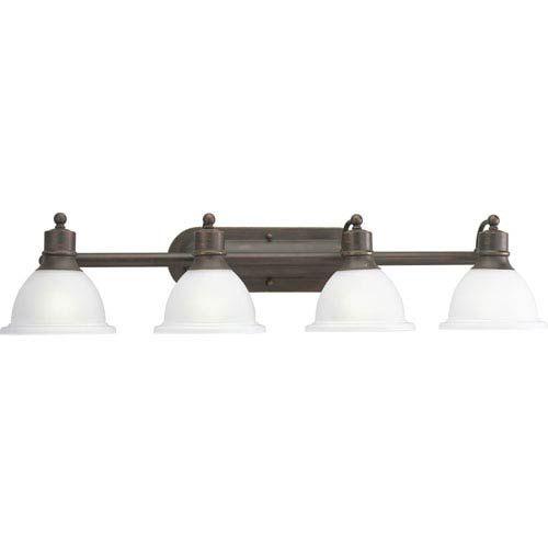 Photo of Progressive lighting P3164-20 P3164-20: Madison four-light lamp in antique bronze, early American | Bellacor