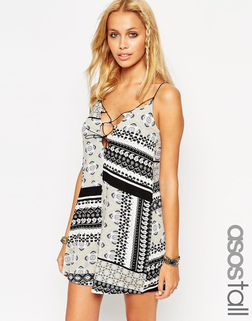ecb91549d299 ASOS+TALL+Playsuit+With+Lace+Up+In+Bandana+Print
