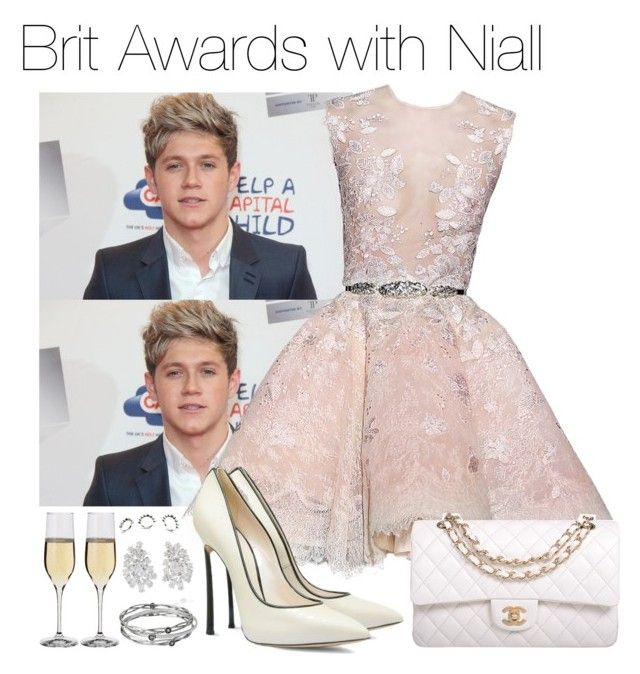"""Brit Awards with Niall"" by mona-h0ran ❤ liked on Polyvore featuring Zuhair Murad, Casadei, Chanel, Dartington Crystal, Kenneth Jay Lane, Kenneth Cole and Eddie Borgo"