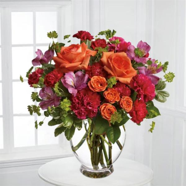 Juicy Orange And Fuchsia Blooms In 2020 Flower Delivery Online Flower Delivery Send Flowers Online