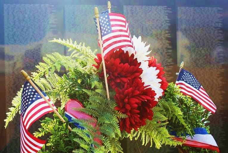 From Tammy Peeples on September 10: Photographed this Sunday at the Vietnam Wall Traveling memorial on display in Estes Park, CO. #CAP14Flag