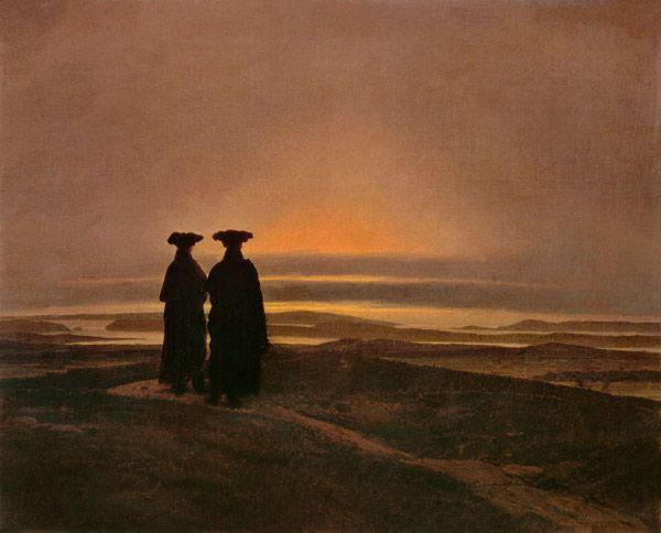 Caspar David Friedrich-Sunset (Brothers)