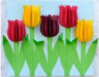 اعمال يدوية طريقة عمل لوحة فنية بالورق الملون Colored Paper Art Art Works