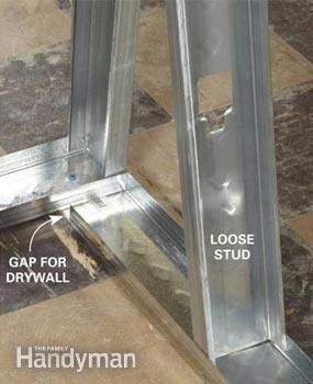 Metal Studs How To Use And Frame With Metal Studs Metal Stud Framing Steel Frame House Steel Frame Construction