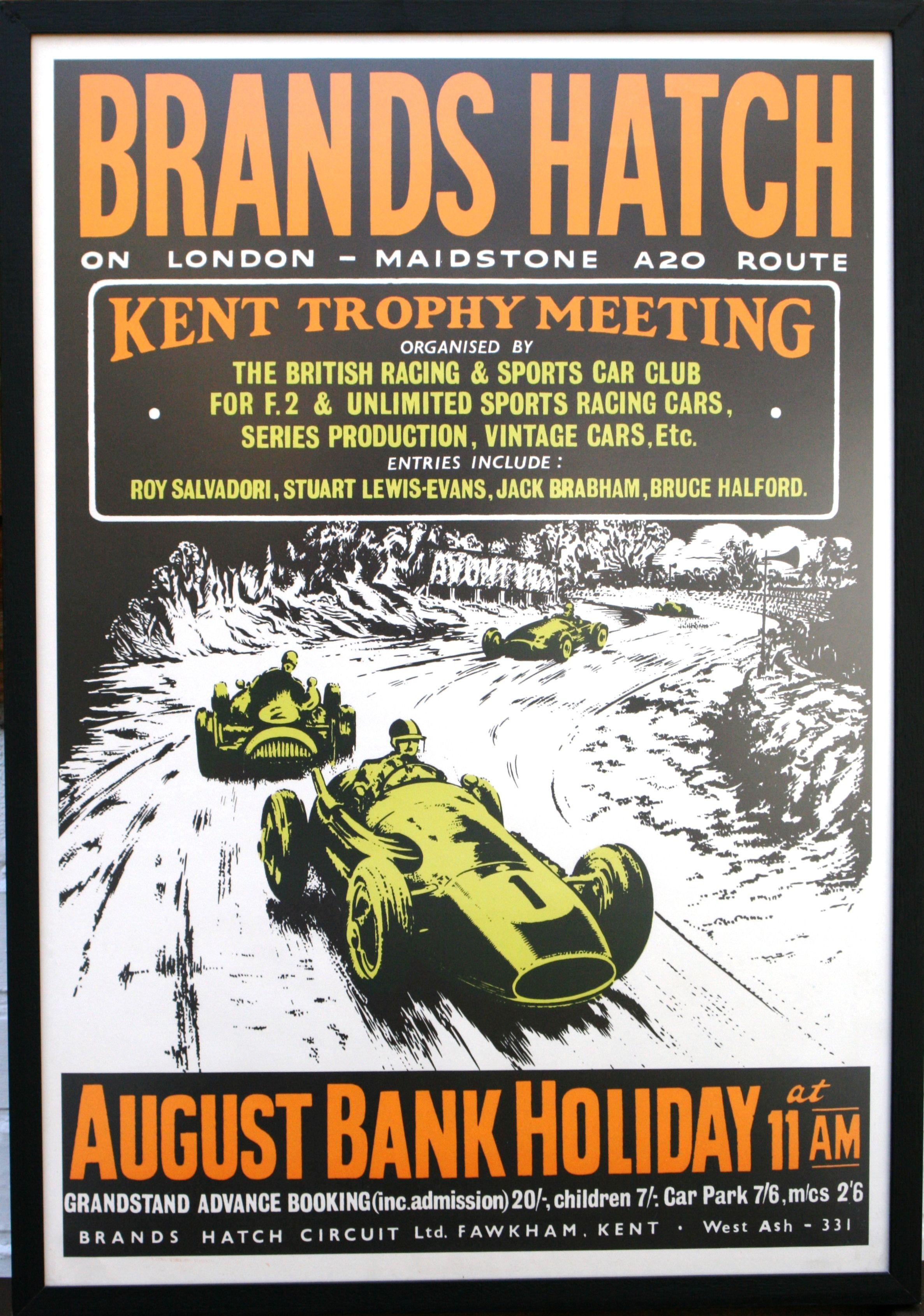 Brands Hatch Kent Trophy Meeting, 1960s - original vintage ...