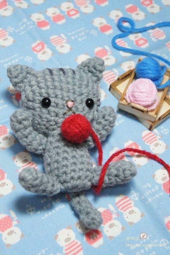 Crochet amigurumi pattern PDF Kitty cat doll by fingerstory, $3.90 ...
