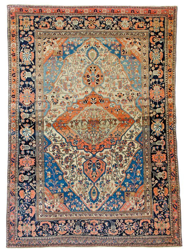 Keshan Mohtashem rug, Approximately 6ft. 2in. x 4ft. 6in. (189x137cm), Persia circa1890