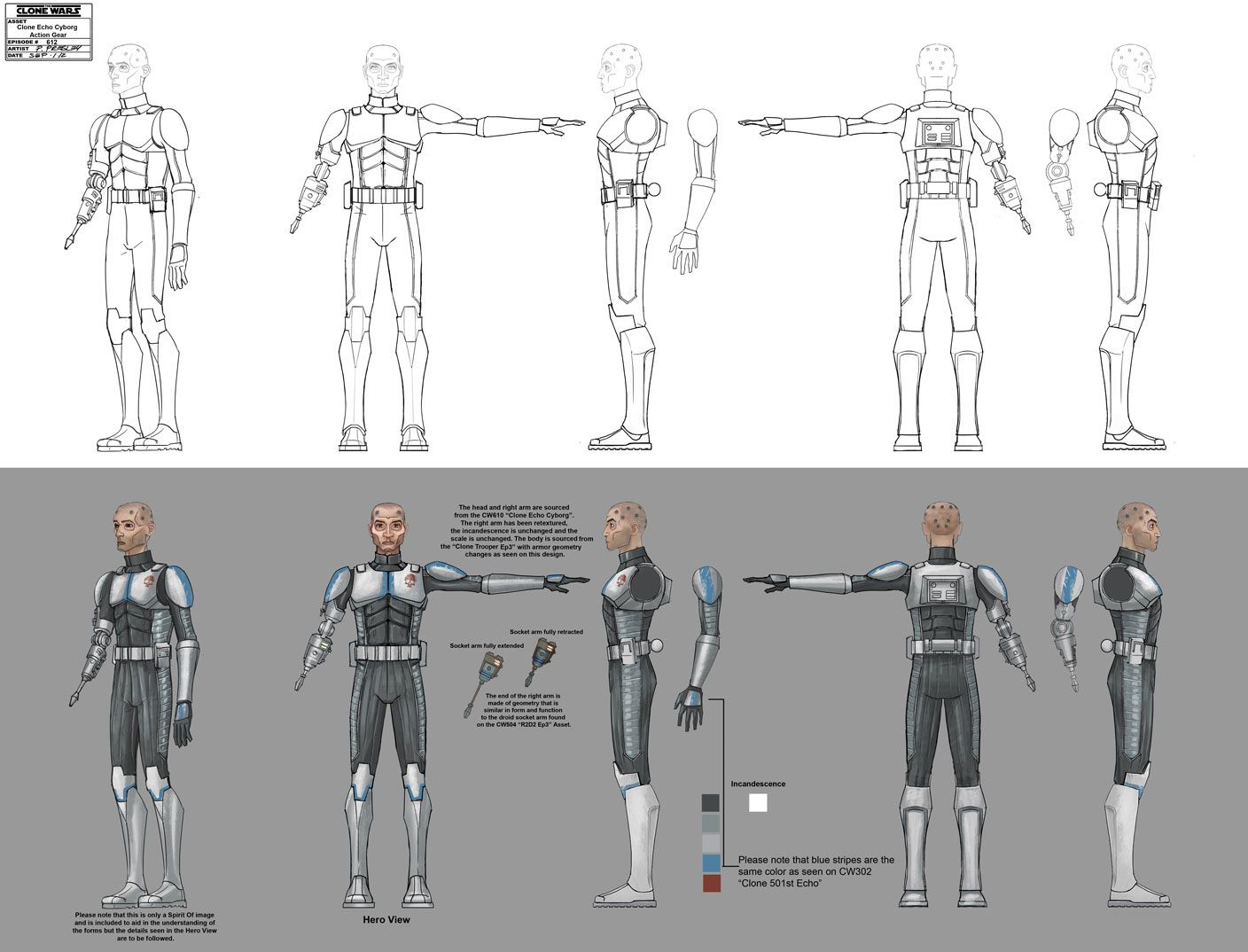 Arc Troopers Fives And Echo Concept Art
