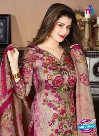 019e8fff63 ... Salwar Suits Online Shopping by NEW SHOP .IN. Rakhi 5732 A Pink Tussar  Silk Pashmina Winter Suit