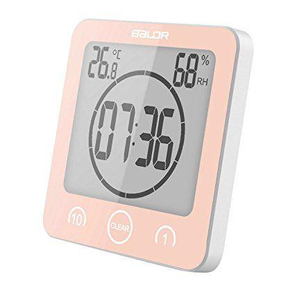 GuDoQi Minuteries Horloge Murale Thermomètre Intérieur Hygromètre ...