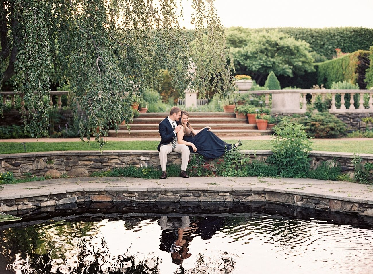 Chicago Botanic Garden Engagement Session Chicago Botanic Garden