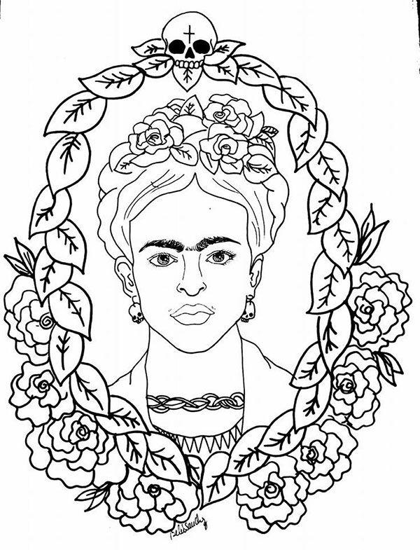 Desenhos De Frida Kahlo Para Colorir Pintar E Imprimir Com