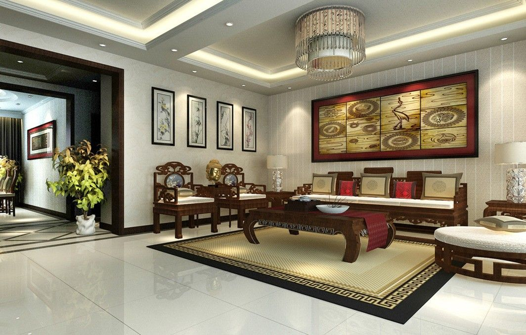 Chinese classical furniture chinese classical wall for Oriental furniture living room
