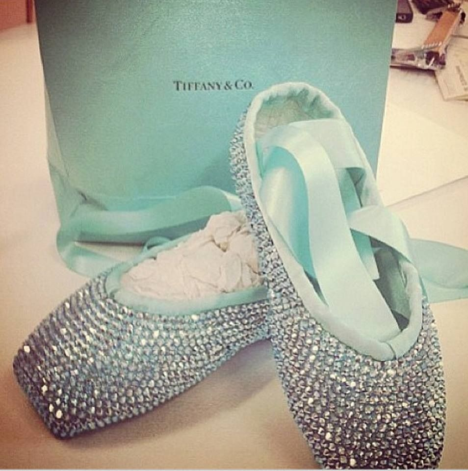9783d4d7ded Tiffany and Co diamond ballet pointe shoes