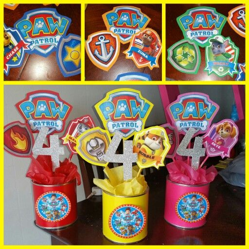 Astonishing Paw Patrol Centerpieces Party Decorations In 2019 Paw Download Free Architecture Designs Scobabritishbridgeorg