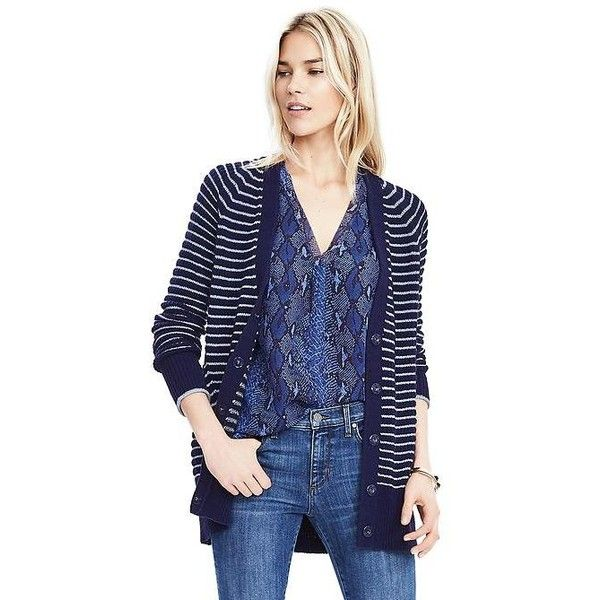 Banana Republic Womens Textured Long Cardigan ($88) ❤ liked on ...