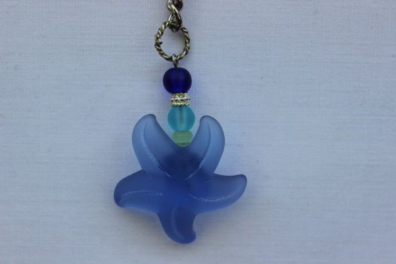 Cultured Sea Glass Starfish Keychain via Etsy