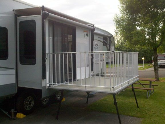 Cool And Interesting Rvs A Deck On An Rv Fifth Wheel