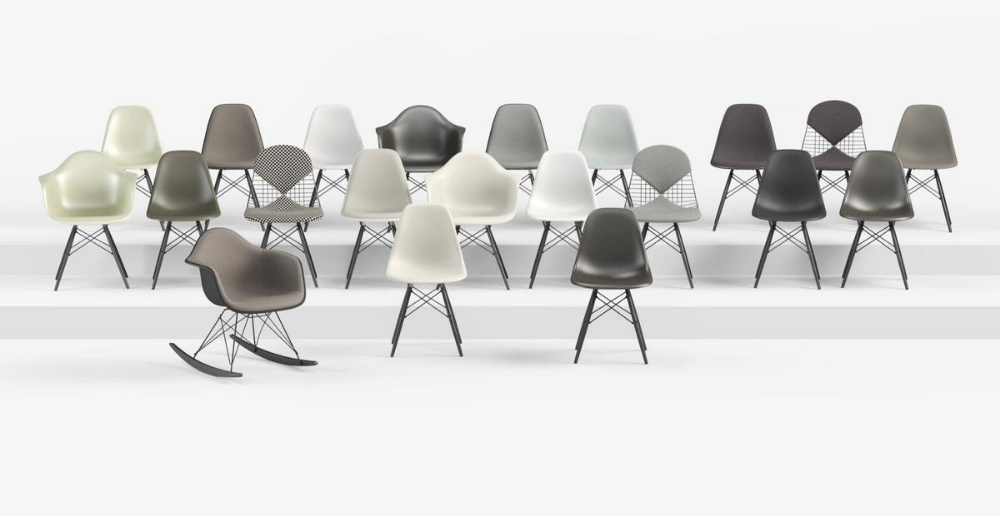 Vitra Eames Plastic Side Chair Dsw By Charles Ray Eames 1950 Designer Furniture By Smow Com Eames Plastic Chair Side Chairs Vitra
