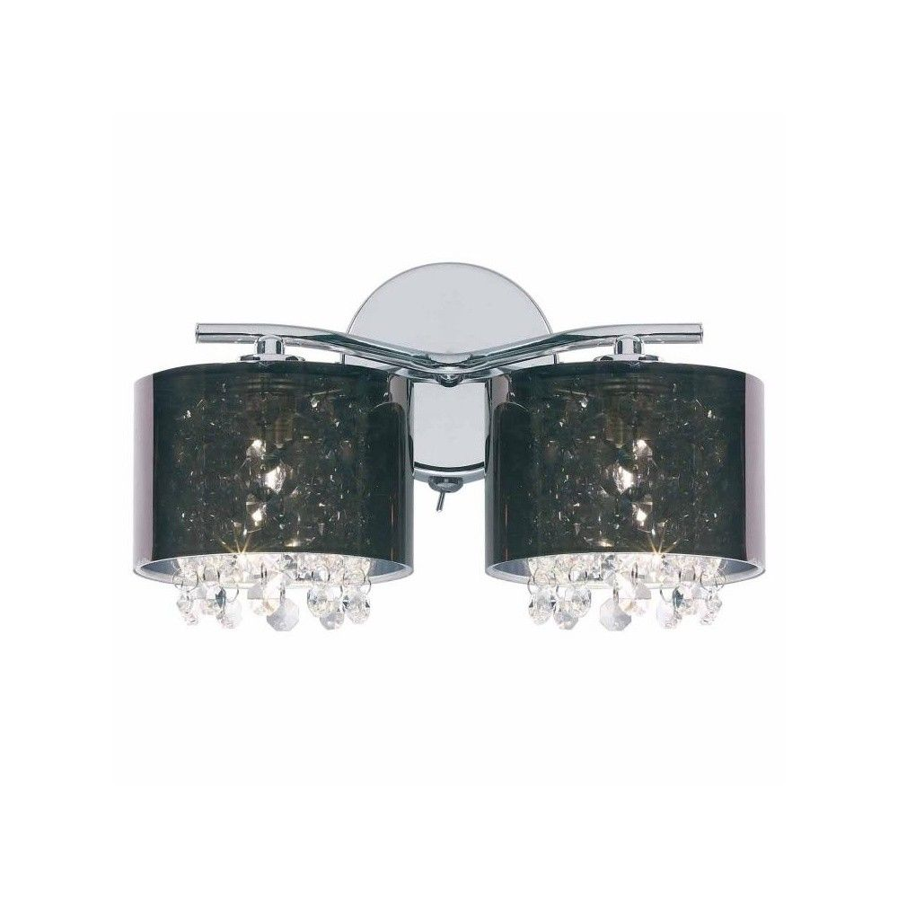 Smoked Shades Wall Brackets 91222 2 Light Wall Brackets