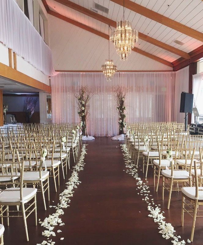 Beautiful Indoor Wedding Ceremony: A Rainy Patio = A Beautiful Indoor Ceremony In Our Seaside