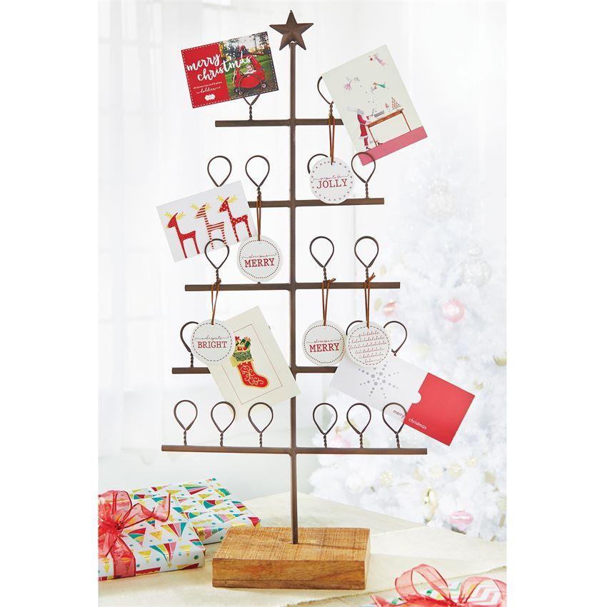 Metal Tree Christmas Card Holder | Metal tree, Christmas card ...