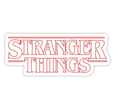 Stranger Things Sticker Stickers Stranger Things Logo