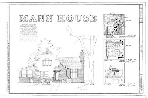 Mann House 1924 Tudor Cottage Plan Sketches Plans