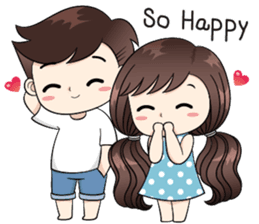 Check Out The Boobib Cute Couple Sticker By B B Design On Chatsticker Com Cute Love Cartoons Cute Cartoon Pictures Couple Cartoon
