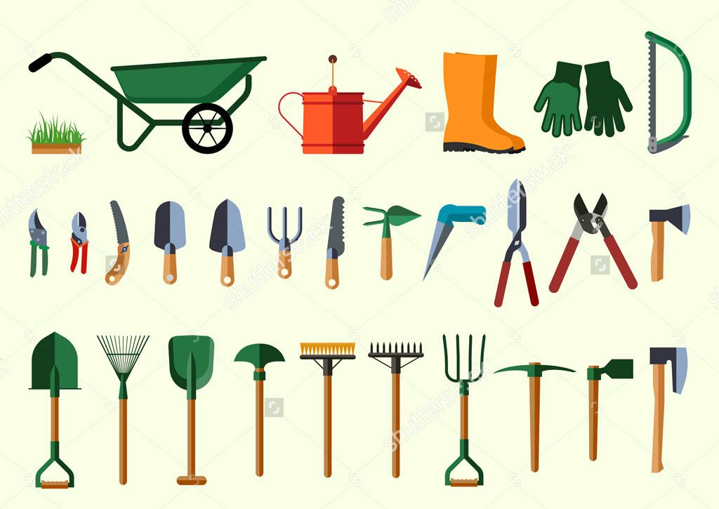 Hand gardening tools and their uses book of mormon pinterest for Gardening tools and their uses