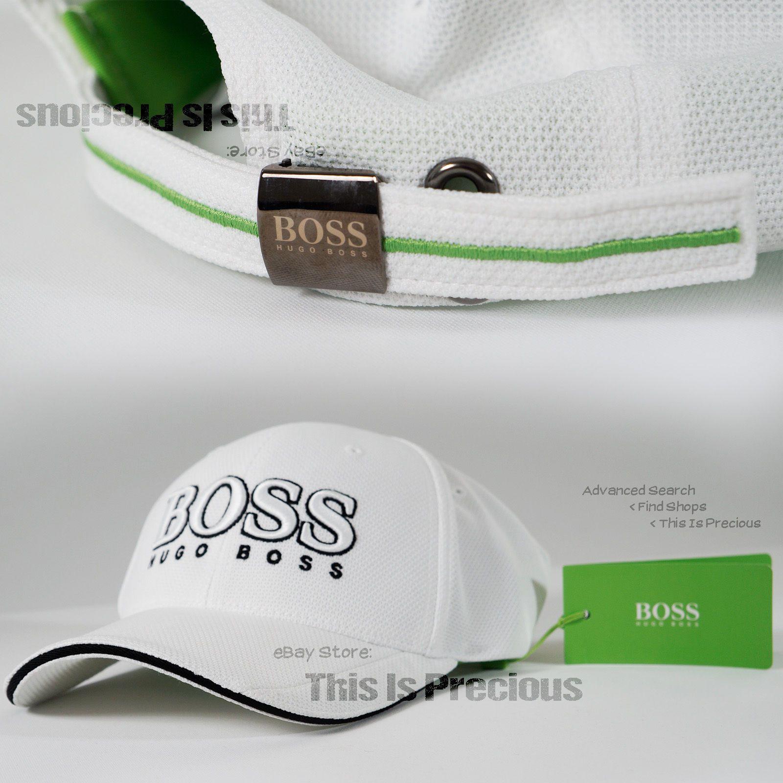 ca61bc7c0c523 New Hugo Boss Golf Hat Curved Bill No Flat Visor Baseball Cap Strap  Adjustable