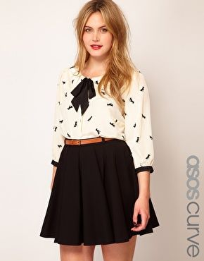 Enlarge ASOS CURVE Exclusive Shirt In Dog Print