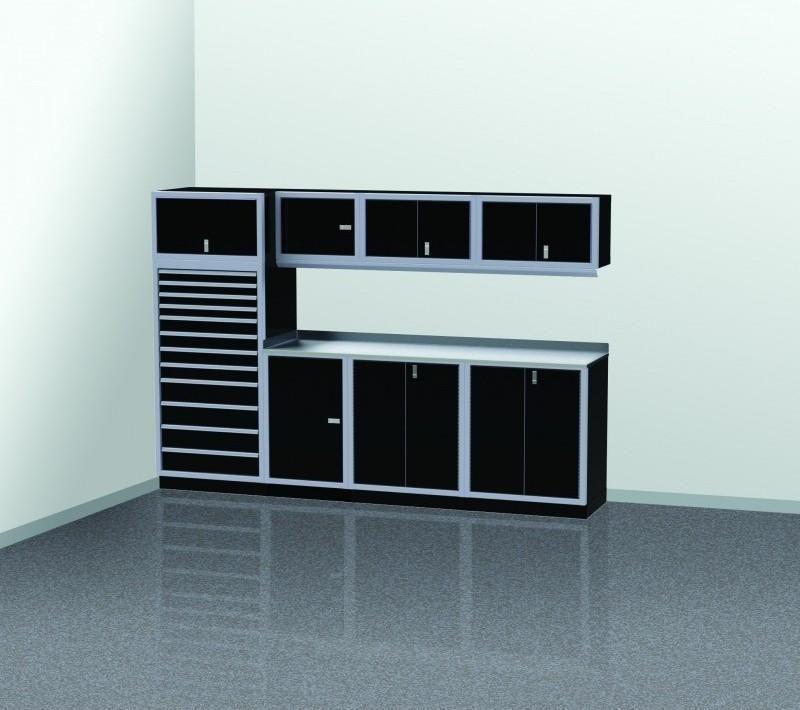 Moduline Garage Pro Ii Cabinet Combo 10 Foot Wide Pgc010 04x Premium Storage Garage Shelving Garage Tool Storage
