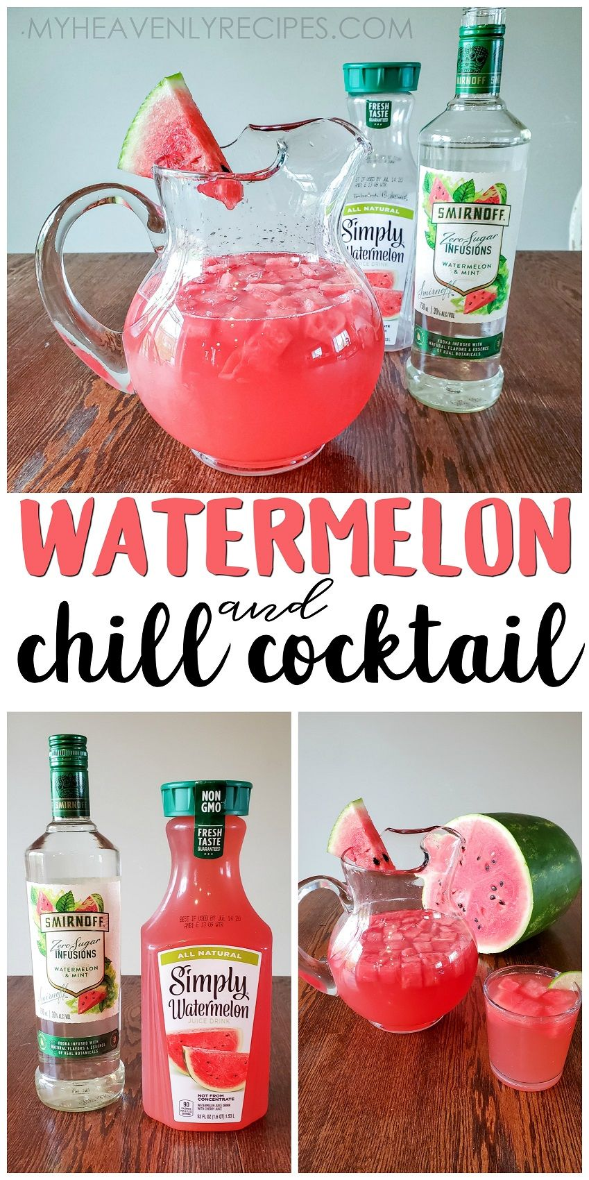 Watermelon Chill Cocktail In 2020 Pink Alcoholic Drinks Summertime Drinks Boozy Drinks