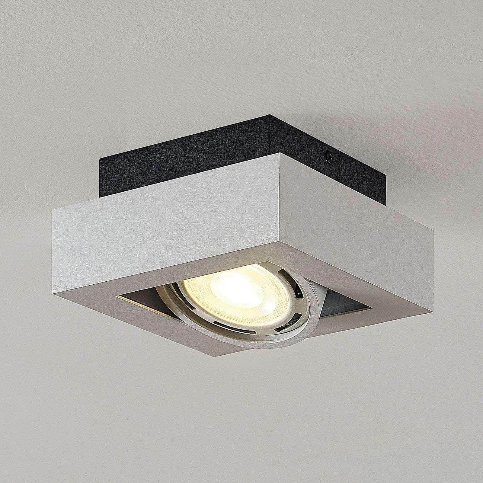 Led Plafondspot Ronka Gu10 Met Een Lampje Wit In 2020 Led Deckenstrahler Deckenstrahler Led Strahler