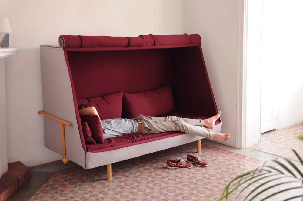 Goula Figuera Designs Hybrid Bed-Sofa-Cabin to Recapture the
