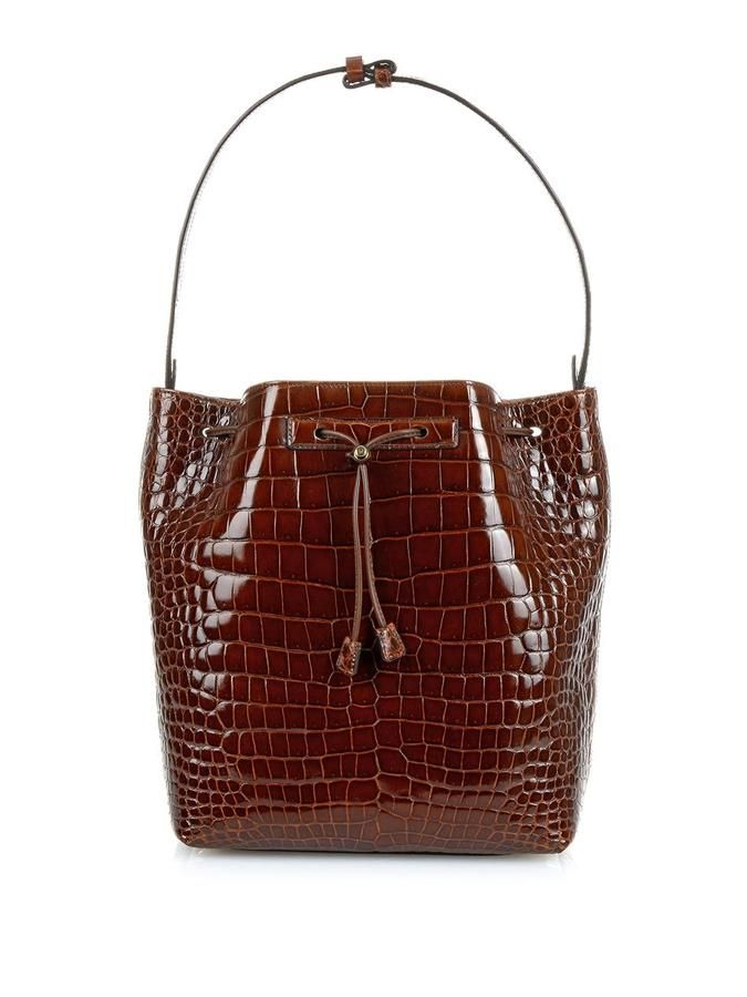18f473cb93db28 The Row Crocodile bucket bag | { bag lady } | Bucket Bag, Bags, The ...
