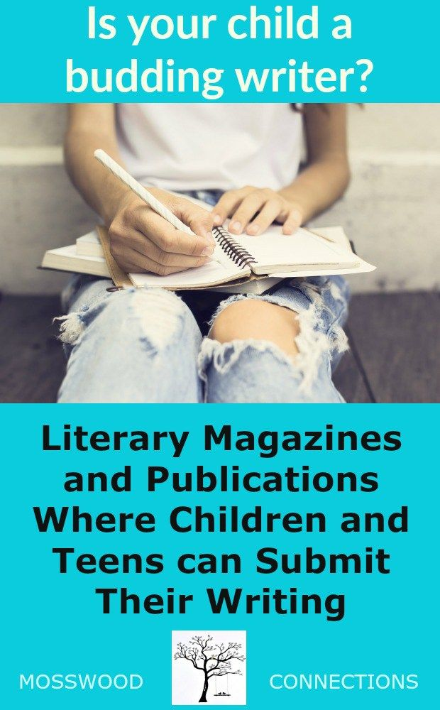 Literary Magazines and Publications Where Children and Teens can Submit Their Writing