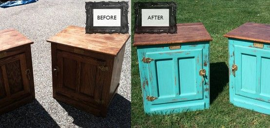 Vintage White Clad Ice Box Wine Boxes Painted Furniture Furniture Makeover Diy Decor