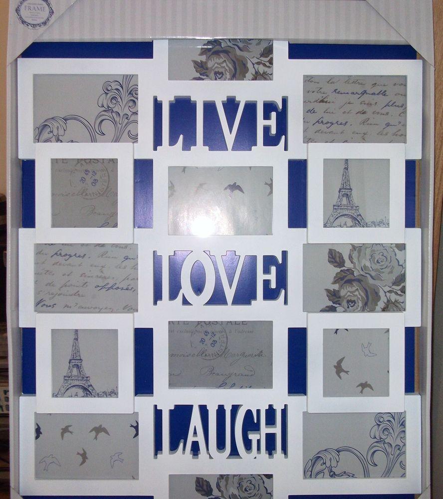 Large White Live,Love,Laugh Frame (14 Multi Aperture) - £25 ...