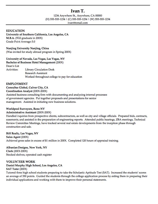 Coordinator Analyst Resume CV - http://resumesdesign.com ...