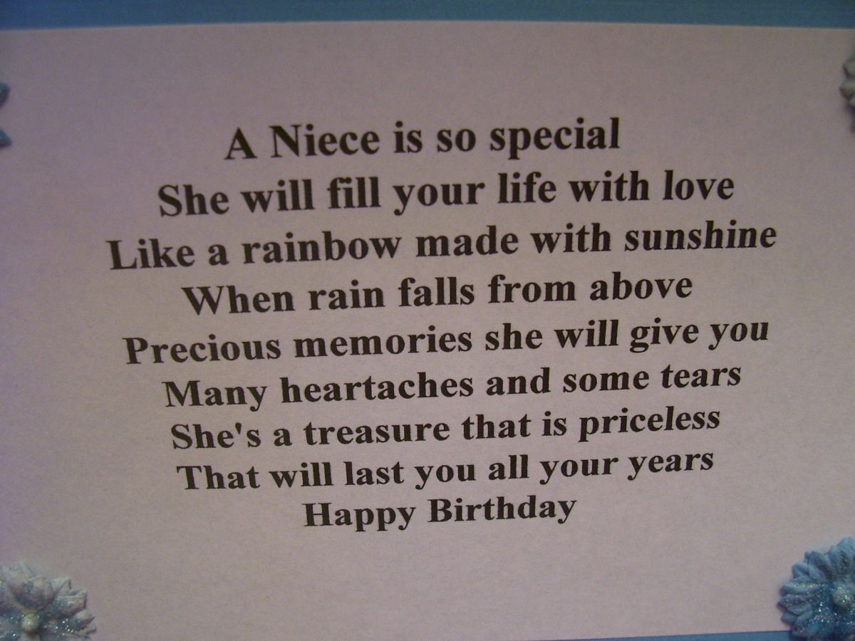 Birthday Cards For Nieces Th Images Of Made This Card For Our - Free childrens birthday verses for cards