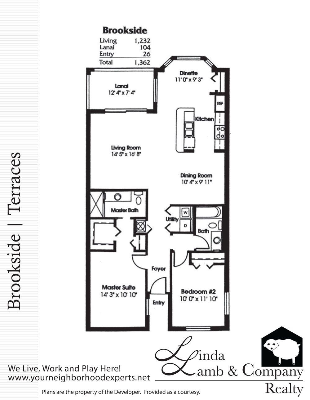 Brookside Terraces Floor Plan Heritage Palms Linda Lamb Company Fort Myers Real Estate Terrace Floor Floor Plans Florida Condos