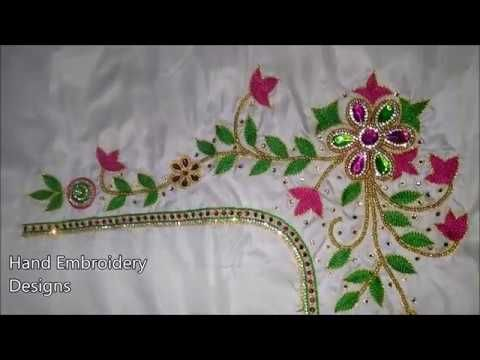 Designer Blouse Designs Hand Embroidery Designsbasic Embroidery