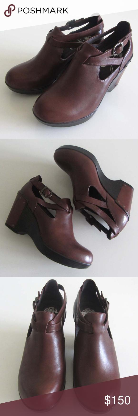 267e235418 Dansko Franka brandy strap wedge shoes 36 6 Dansko Franka ( style    1901767800 ) round