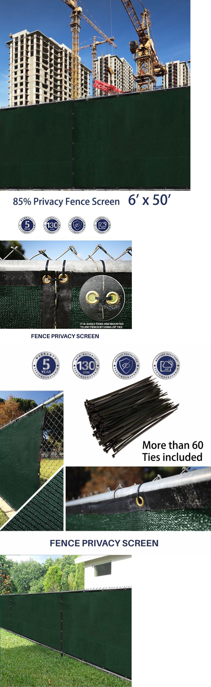 Privacy screen for chain link fence ebay - Privacy Screens Windscreens 180991 Privacy Fence Screen 6x50 Chain Link Fencing Cover Materials With Brass